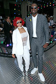 NBA Stylist Calyann Barnett and Basketball player Dwyane Wade attend the Dior Homme Menswear Spring/Summer 2017 show as part of Paris Fashion Week on...