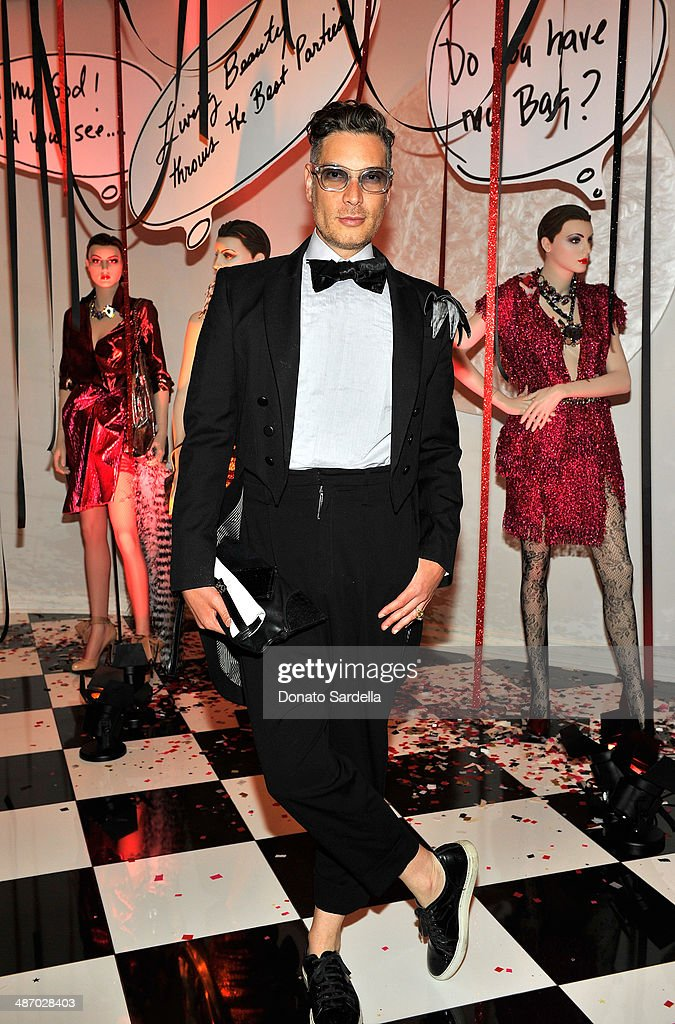 Stylist Cameron Silver attends Lanvin And Living Beauty Host An Evening Of Fashion on April 26, 2014 in Beverly Hills, California.