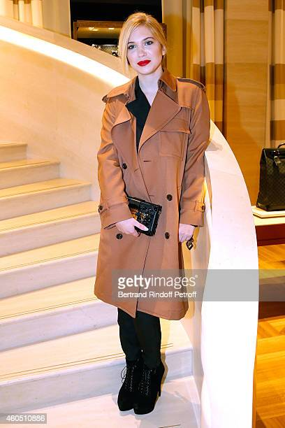 Stylist Camille Seydoux attends the Louis Vuitton Montaigne Store ReOpening party at Louis Vuitton Avenue Montaigne Store on December 15 2014 in...