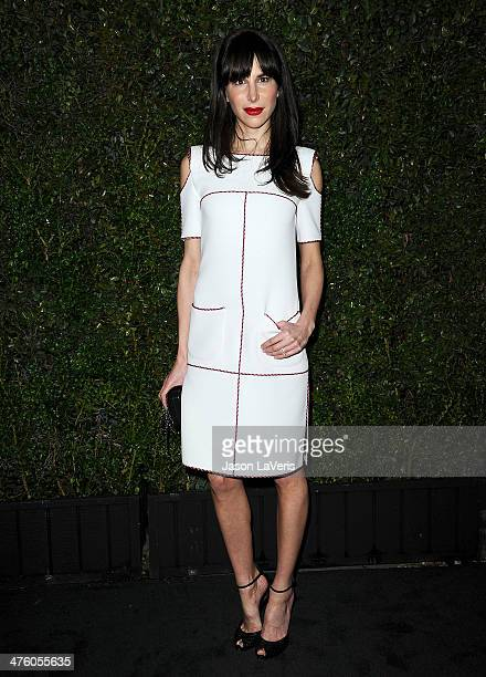 Stylist Caroline Sieber attends the Chanel and Charles Finch preOscar dinner at Madeo Restaurant on March 1 2014 in Los Angeles California