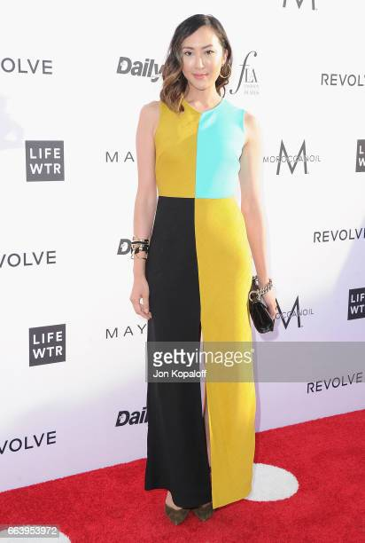 Stylist Chriselle Lim arrives at the Daily Front Row's 3rd Annual Fashion Los Angeles Awards at the Sunset Tower Hotel on April 2 2017 in West...