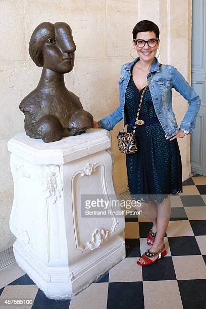 Stylist Cristina Cordula attends the 'Picasso National Museum Paris' Reopening party on October 19 2014 in Paris France