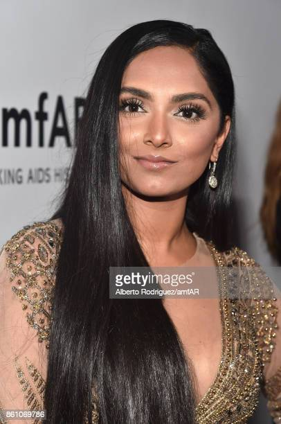 Stylist Deepica Mutyala attends the amfAR Gala Los Angeles 2017 at Ron Burkle's Green Acres Estate on October 13 2017 in Beverly Hills California