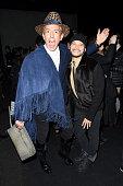 Stylist Derek Warburton and designer Philip Bloch attends the Vivienne Tam Fall 2016 fashion show during New York Fashion Week The Shows at The Arc...
