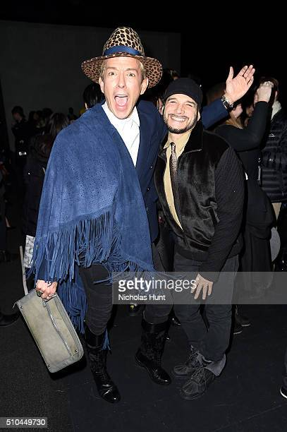 Stylist Derek Warburton and designer Philip Bloch attends the Vivienne Tam Fall 2016 fashion show during New York Fashion Week The Shows at The Arc...