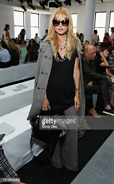 Stylist/ designer Rachel Zoe attends the Reed Krakoff spring 2013 fashion show during MercedesBenz Fashion Week at Skylight West on September 12 2012...