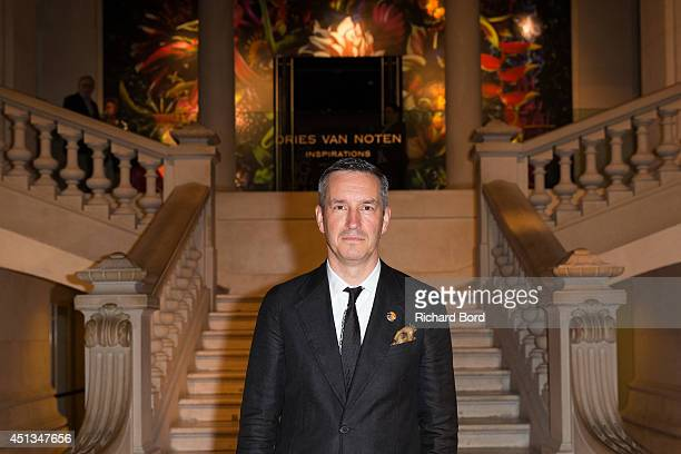 Stylist Dries Van Noten attends the Dries Van Noten Exhibition Party as part of the Paris Fashion Week Menswear Spring/Summer 2015 at Musee Des Arts...