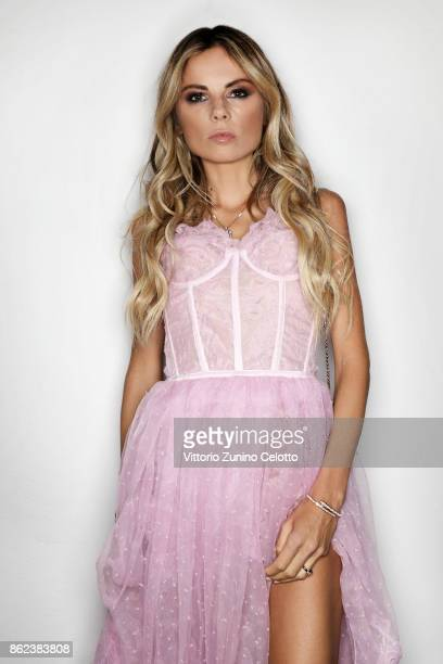 Stylist editor and creative director Erica Pelosini poses for a portrait during amfAR Gala Milano on September 21 2017 in Milan Italy