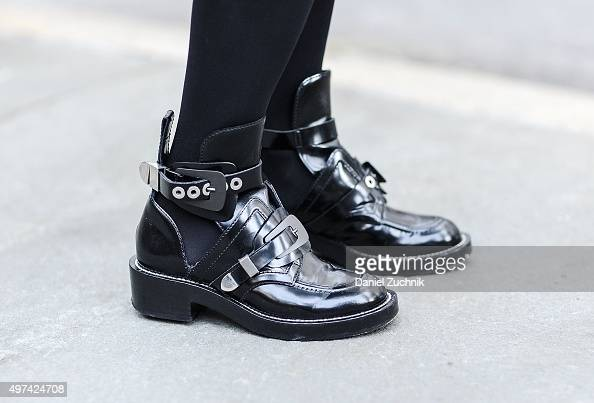Stylist Elineya is seen on the streets of Manhattan wearing Balenciaga boots on November 16 2015 in New York City