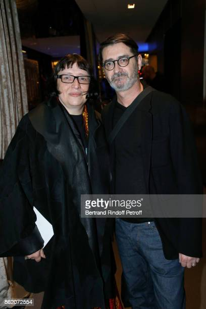 Stylist Franck Sorbier and his wife Isabelle attend the 'Knock' Paris Premiere at Cinema UGC Normandie on October 16 2017 in Paris France