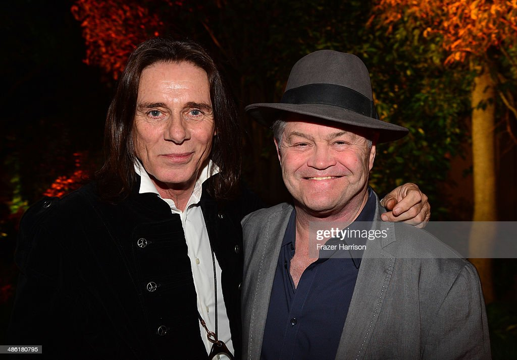 Stylist George Blodwell (L) and musician <a gi-track='captionPersonalityLinkClicked' href=/galleries/search?phrase=Micky+Dolenz&family=editorial&specificpeople=221363 ng-click='$event.stopPropagation()'>Micky Dolenz</a> attend the 8th Annual BritWeek Launch Party at a private residence on April 22, 2014 in Los Angeles, California.