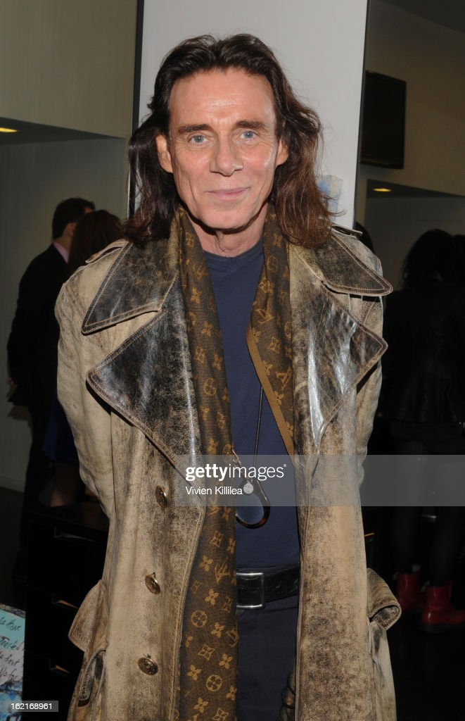Stylist George Blodwell attends Art + Beauty Oscar Celebration For NYC Contemporary Artist Bobby Hill at Metodo Rossano Ferretti Hair Spa on February 19, 2013 in Beverly Hills, California.