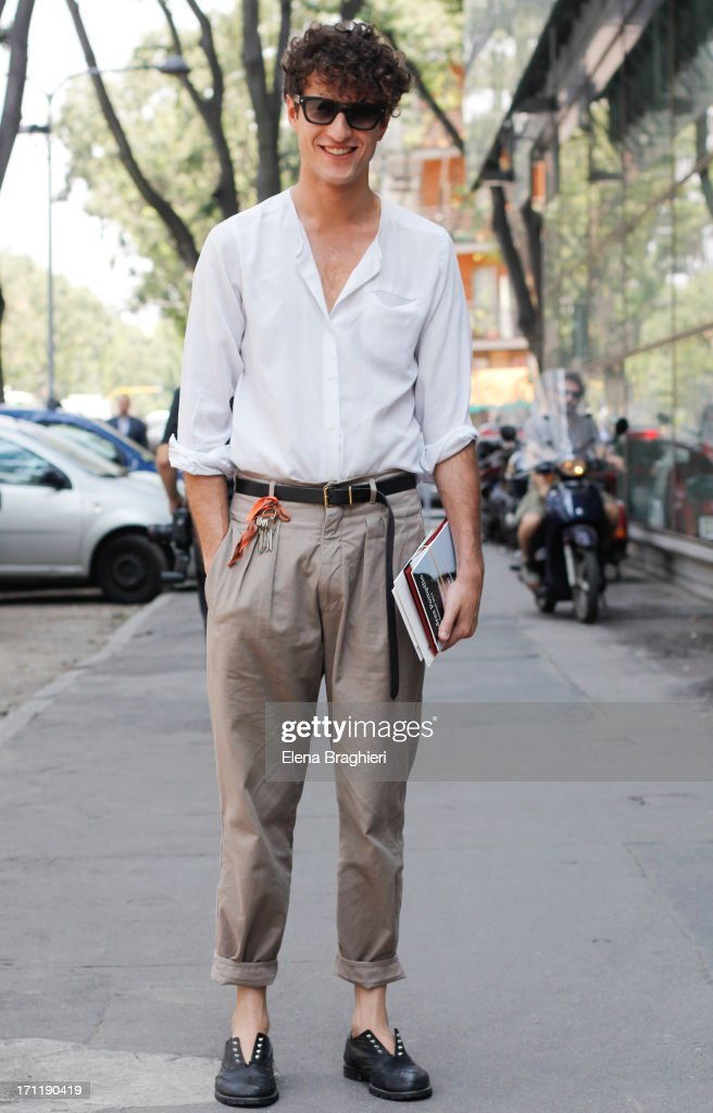 Stylist Giovanni Dario Laudicina during Milan Fashion Week Menswear Spring/Summer 2014 on June 22, 2013 in Milan, Italy.