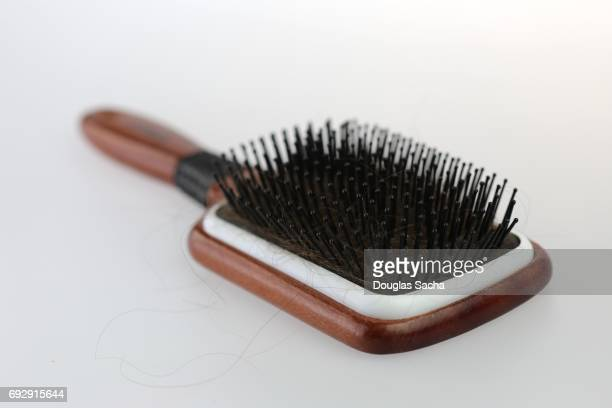 Stylist hair brush on a white background