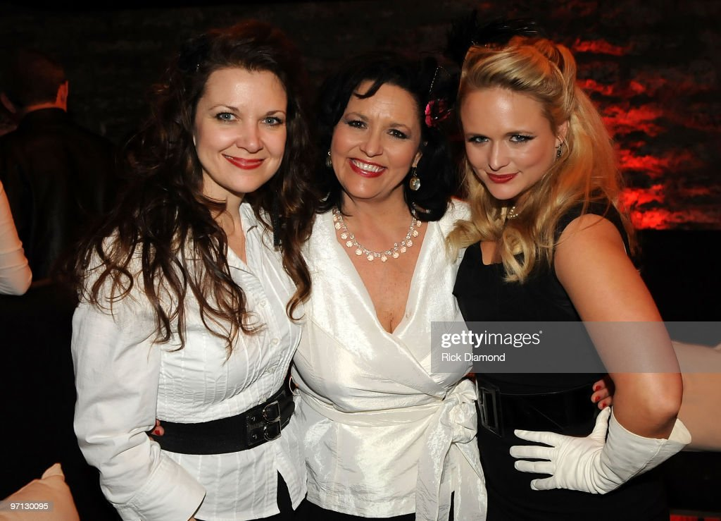 Stylist Holly Chapman, Miranda's Mom Bev Lambert and Singer/Co Songwriter Miranda Lambert pose during BMI Honors Miranda Lambert's for her First #1single with a 1940's style bash and a few hundred of her friends at The Cellar on February 26, 2010 in Nashville, Tennessee.