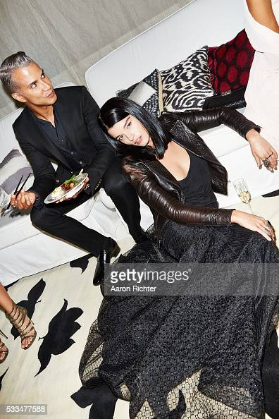 Stylist Jay Manuel and model Crystal Renn are photographed for Glamour Magazine in 2014 in New York City PUBLISHED IMAGE
