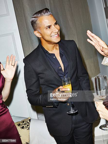 Stylist Jay Manuel is photographed for Glamour Magazine in 2014 in New York City