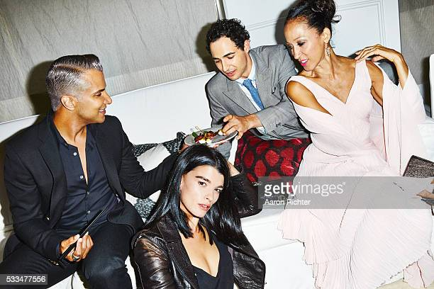 Stylist Jay Manuel model Crystal Renn fashion designer Zac Posen and model Pat Cleveland are photographed for Glamour Magazine in 2014 in New York...
