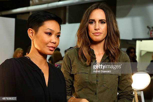 Stylist Jeanie Syfu and TV personality Louise Roe during the TRESemme at Banana Republic Fashion Presentation SS 16 at Highline Stages on September...