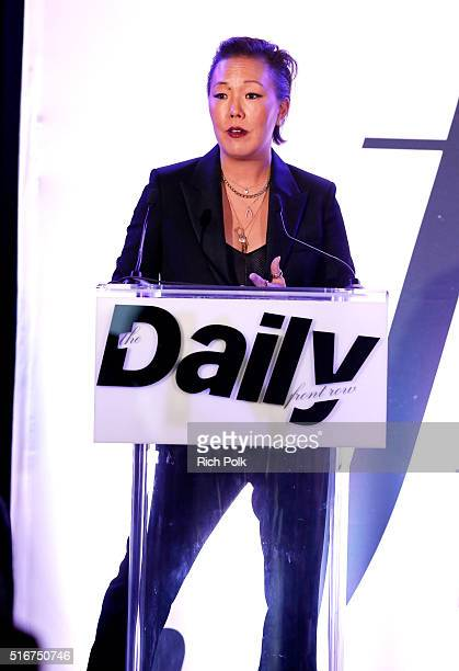 COVERAGE Stylist Jeanne Yang accepts FLA Best Men's Stylist award onstage during The Daily Front Row 'Fashion Los Angeles Awards' 2016 at Sunset...