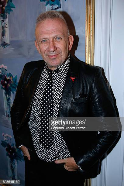 Stylist JeanPaul Gaultier attends the Annual Charity Dinner hosted by the AEM Association Children of the World for Rwanda at Pavillon Ledoyen on...
