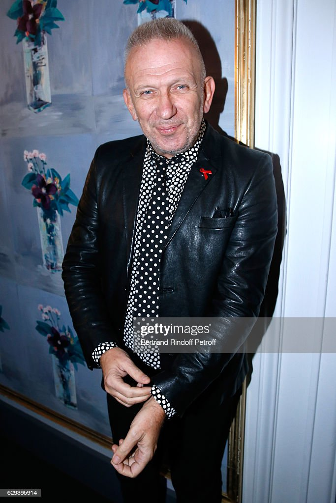Stylist Jean-Paul Gaultier attends the Annual Charity Dinner hosted by the AEM Association Children of the World for Rwanda at Pavillon Ledoyen on December 8, 2016 in Paris, France.