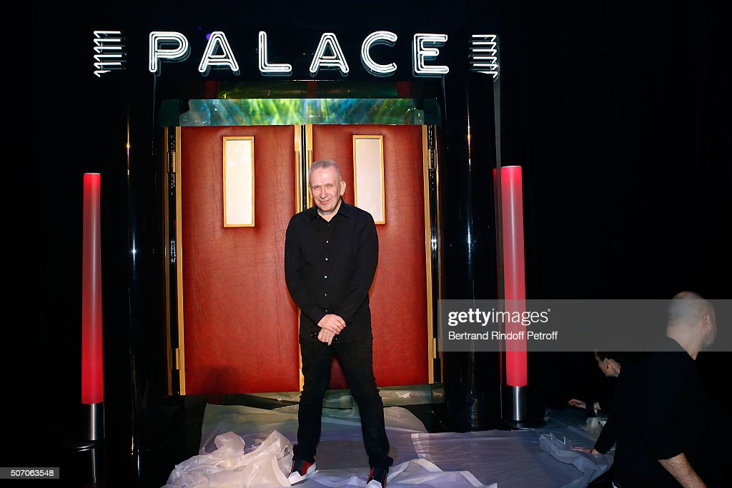 Stylist Jean-Paul Gaultier poses prior the Jean Paul Gaultier Spring Summer 2016 show as part of Paris Fashion Week on January 27, 2016 in Paris, France.