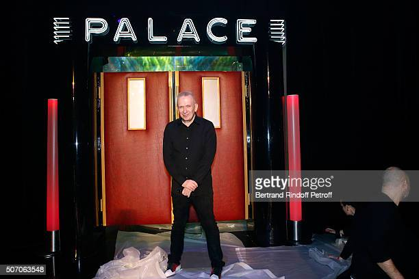 Stylist JeanPaul Gaultier poses prior the Jean Paul Gaultier Spring Summer 2016 show as part of Paris Fashion Week on January 27 2016 in Paris France