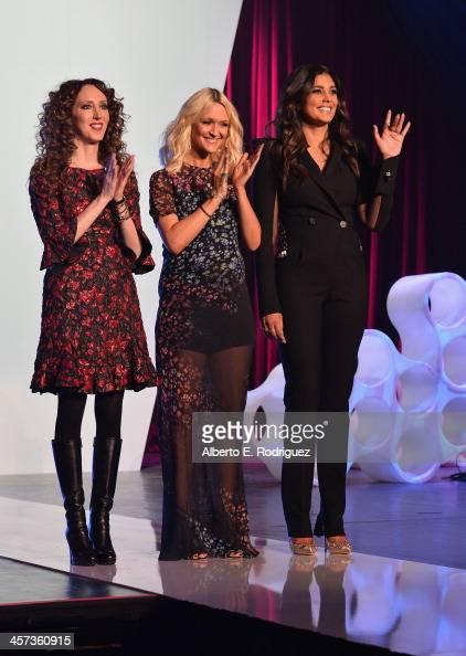 Stylist Jen Rade fashion editor Zana Roberts Rassi and designer Rachel Rassi attend the 'Under The Gunn' Finale Fashion Show at Los Angeles Theatre...