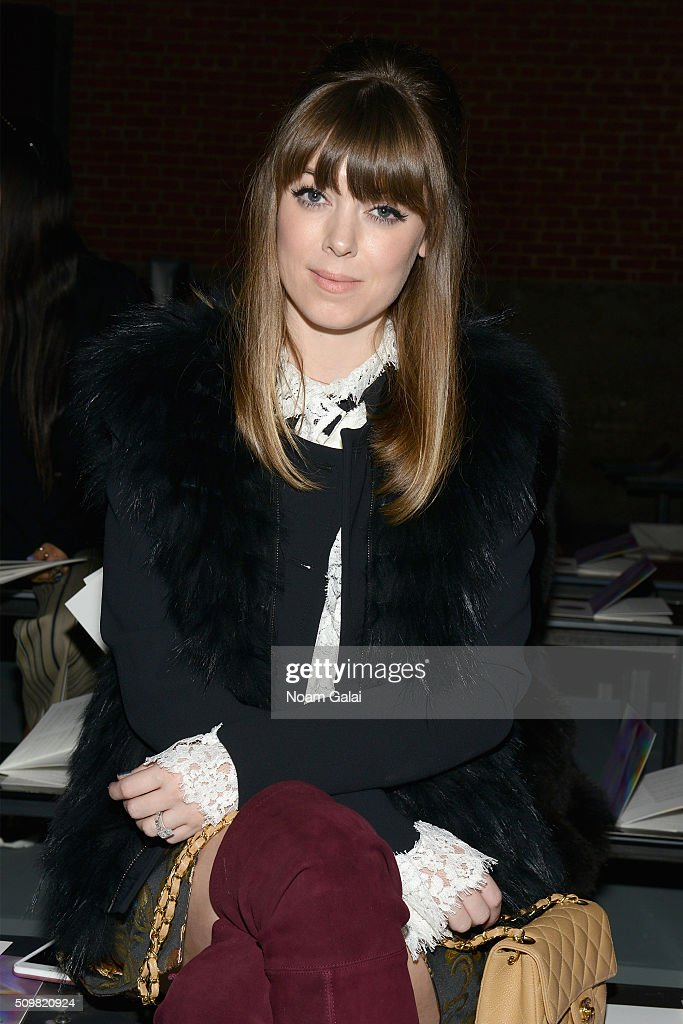Stylist Jenny Bernheim attends the Zimmermann Fall 2016 Runway Show at Art Beam on February 12, 2016 in New York City.