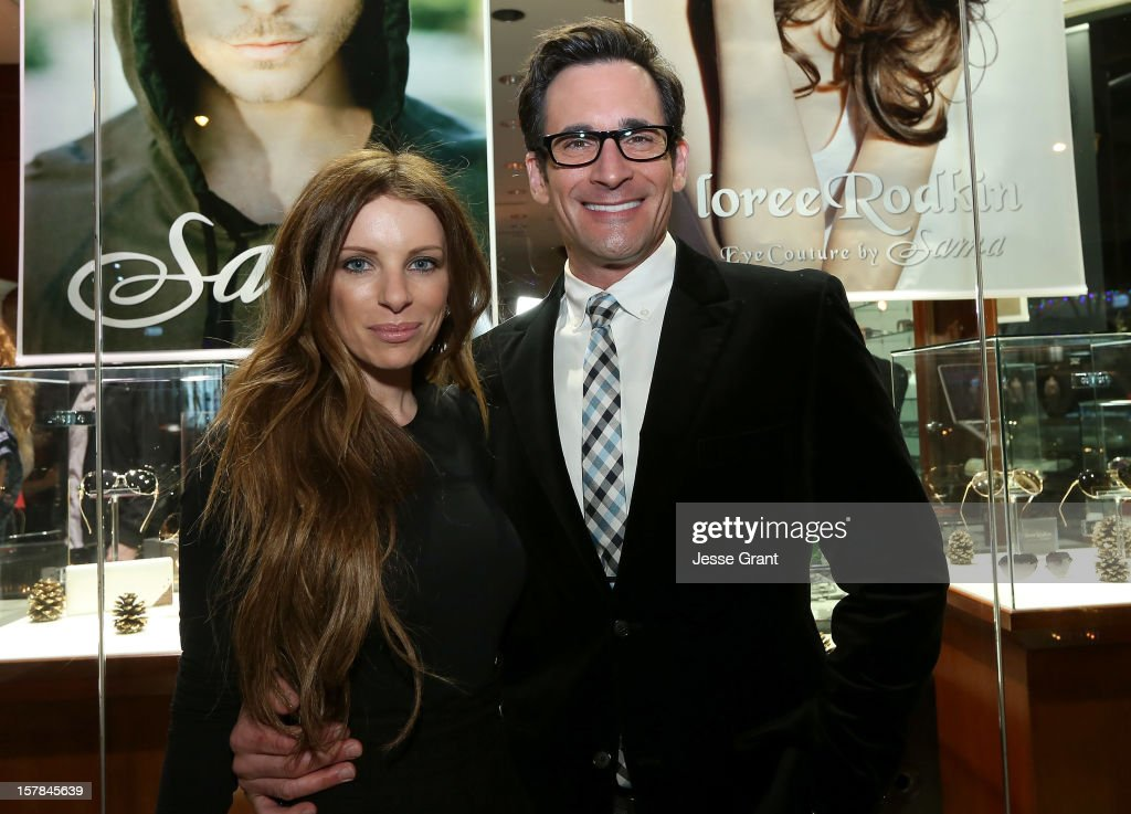 Stylist Joey Tierney and television personality Lawrence Zarian attend the Grand Opening of The Eye Gallery In Los Angeles on December 6, 2012 in Los Angeles, California.