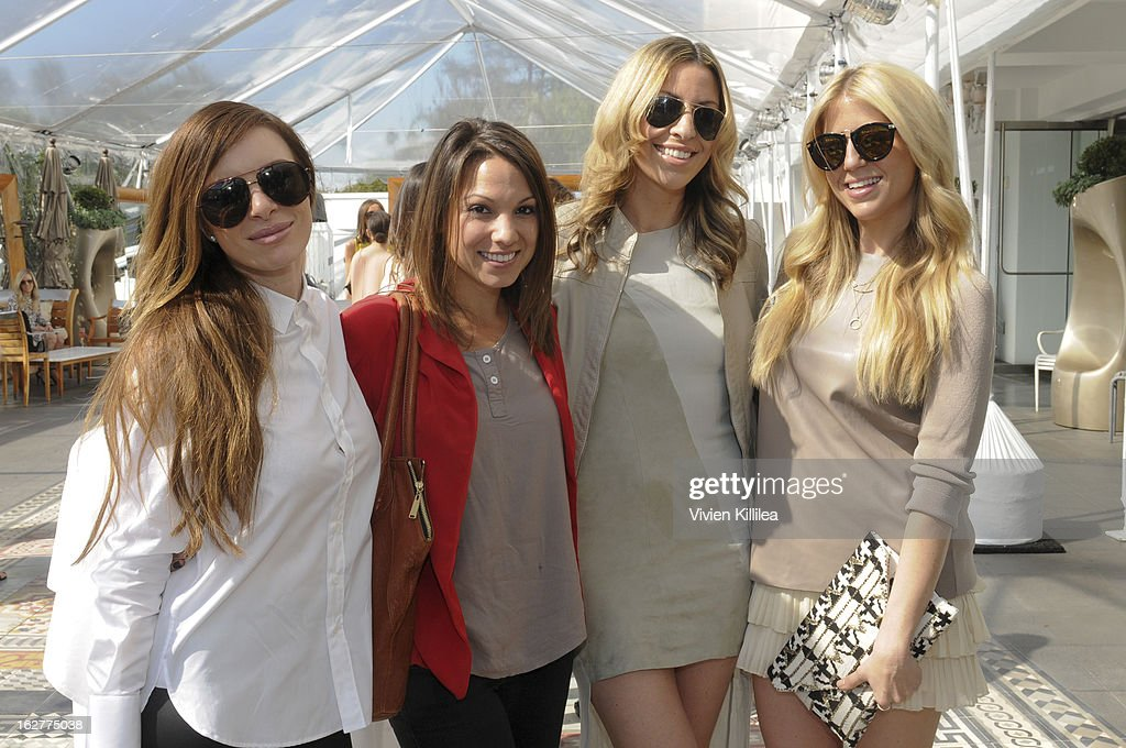 Stylist Joey Tierney, founder of Simply Stylist Sarah Pollock Boyd, Maria Sass and stylist Lindsay Albanese attend Giuliana Rancic And Crystal Light Liquid Toast Red Carpet Style at SLS Hotel on February 26, 2013 in Los Angeles, California.