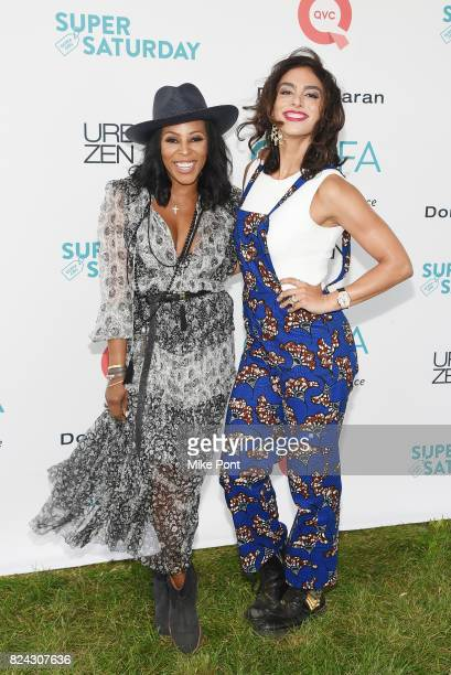 Stylist June Ambrose and Shari Loeffler attend OCRFA's 20th Annual Super Saturday to Benefit Ovarian Cancer on July 29 2017 in Watermill New York