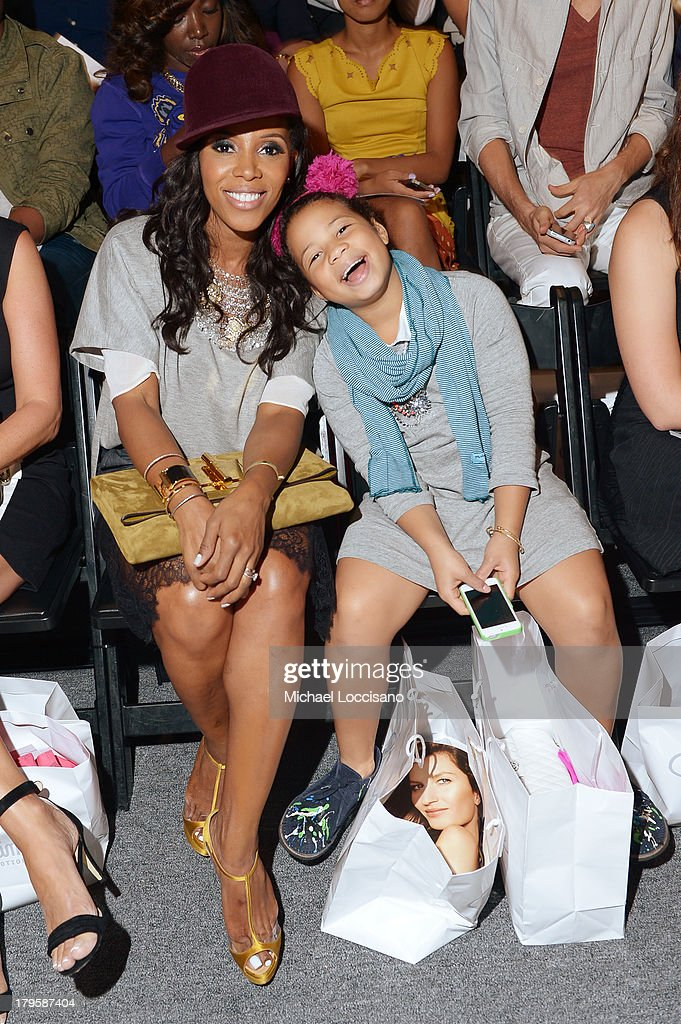 Stylist <a gi-track='captionPersonalityLinkClicked' href=/galleries/search?phrase=June+Ambrose&family=editorial&specificpeople=619410 ng-click='$event.stopPropagation()'>June Ambrose</a> (L) and Summer Chamblin attends the Supima Spring 2014 fashion show during Mercedes-Benz Fashion Week at The Studio at Lincoln Center on September 5, 2013 in New York City.