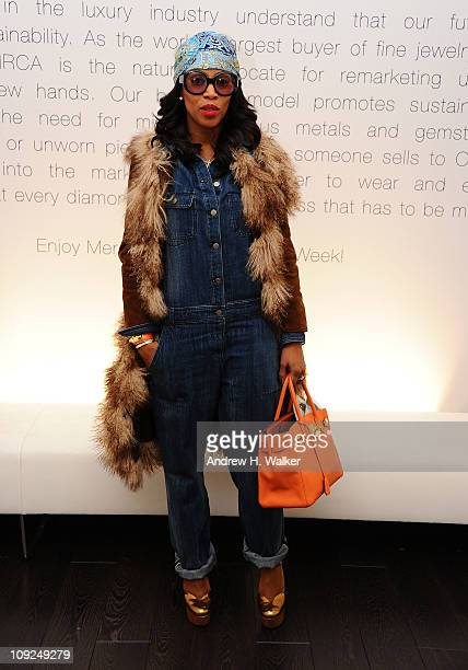 Stylist June Ambrose attends CIRCA IMG Accessories Reception at the CIRCA Lounge at Lincoln Center on February 17 2011 in New York City