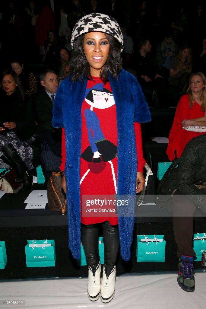 Stylist <a gi-track='captionPersonalityLinkClicked' href=/galleries/search?phrase=June+Ambrose&family=editorial&specificpeople=619410 ng-click='$event.stopPropagation()'>June Ambrose</a> attends Richard Chai fashion show during Mercedes-Benz Fashion Week Fall 2014 at The Salon at Lincoln Center on February 6, 2014 in New York City.