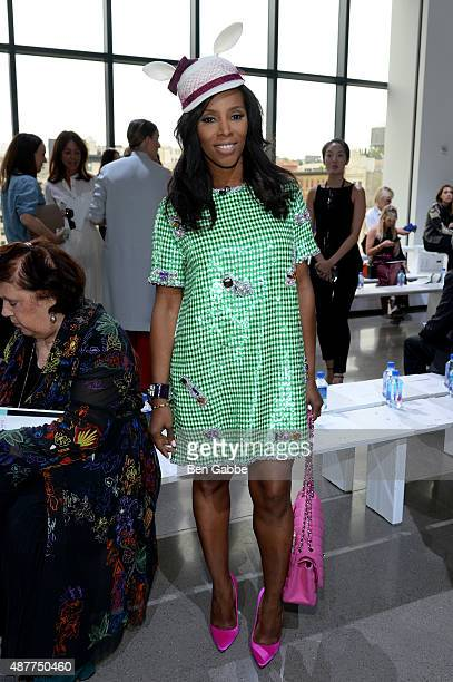 Stylist June Ambrose attends the Jason Wu fashion show during Spring 2016 New York Fashion Week at Spring Studios on September 11 2015 in New York...