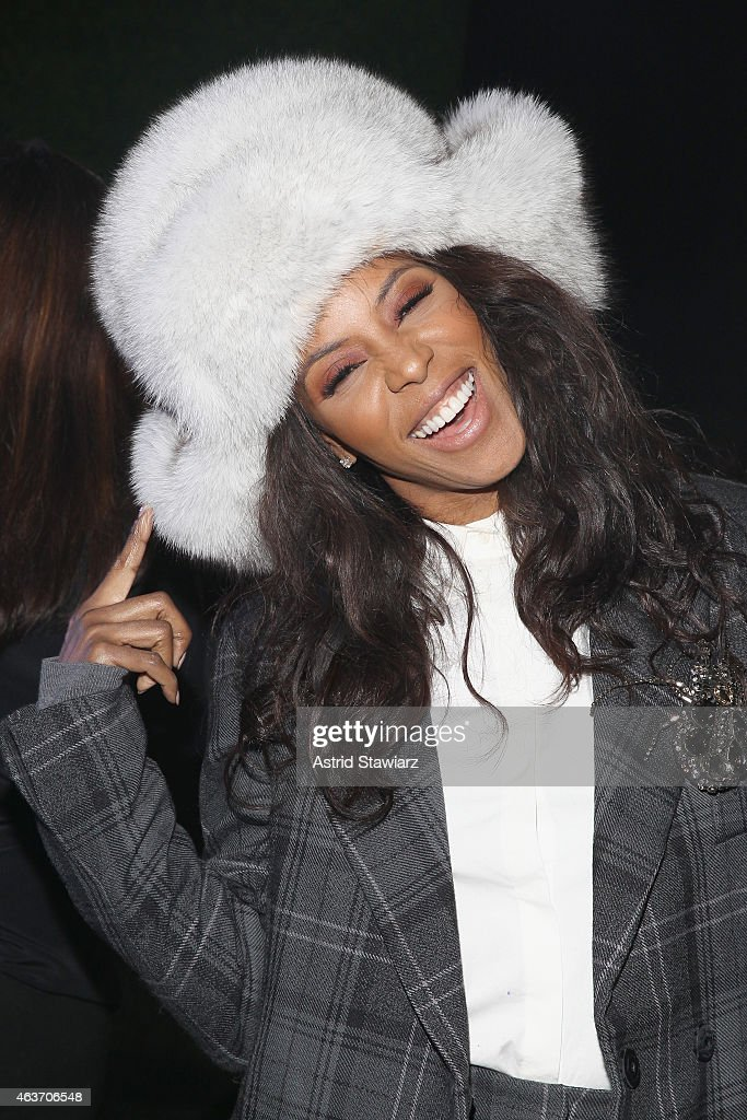 Stylist June Ambrose attends the Marc By Marc Jacobs fashion show during Mercedes-Benz Fashion Week Fall 2015 at Pier 94 on February 17, 2015 in New York City.