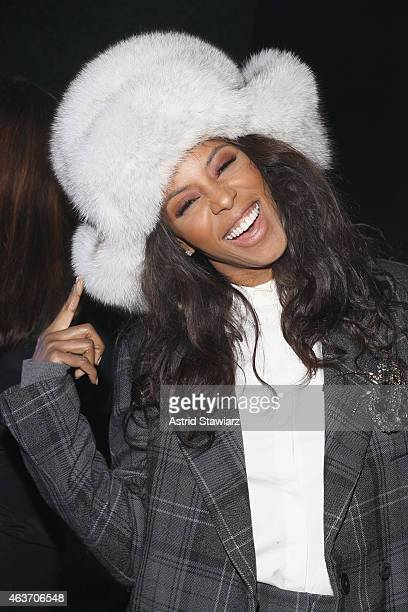 Stylist June Ambrose attends the Marc By Marc Jacobs fashion show during MercedesBenz Fashion Week Fall 2015 at Pier 94 on February 17 2015 in New...