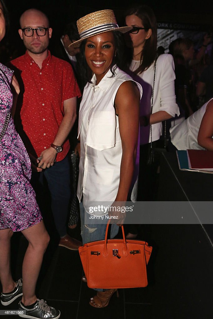Stylist June Ambrose (C) attends the #SohoJeansSingOff hosted by New York & Company with Jennifer Hudson at Marquee on July 22, 2015 in New York City.