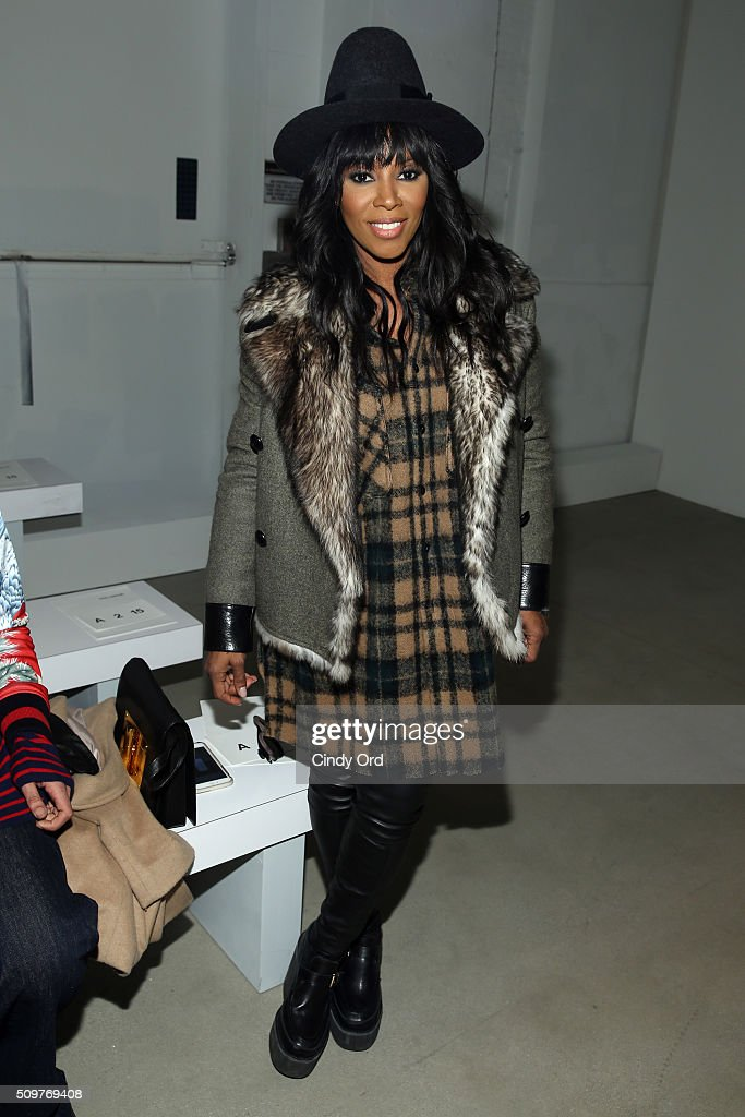 Stylist, <a gi-track='captionPersonalityLinkClicked' href=/galleries/search?phrase=June+Ambrose&family=editorial&specificpeople=619410 ng-click='$event.stopPropagation()'>June Ambrose</a>, attends the Yigal Azrouel Fall 2016 fashion show during New York Fashion Week: The Shows at The Gallery, Skylight at Clarkson Sq on February 12, 2016 in New York City.