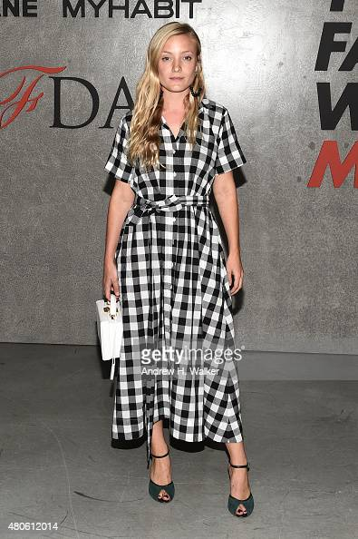 Stylist Kate Foley attends the opening event for New York Fashion Week Men's S/S 2016 at Amazon Imaging Studio on July 13 2015 in Brooklyn New York