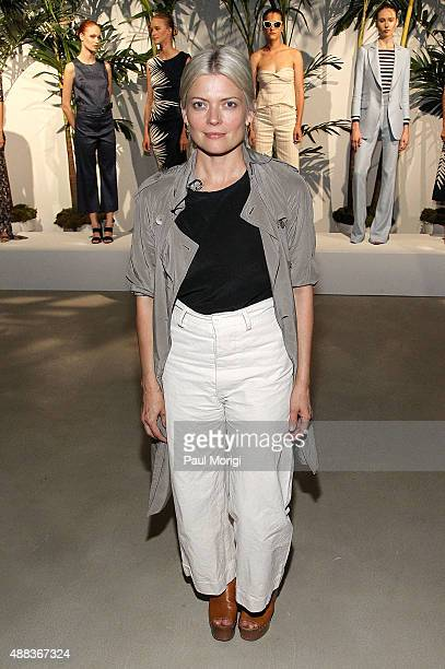 Stylist Kate Young attends Veronica Beard presentation Spring 2016 during New York Fashion Week on September 15 2015 in New York City