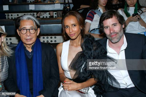 Stylist Kenzo Takada Sonia Rolland and her husband Jalil Lespert attend the Stephane Rolland Haute Couture Fall/Winter 20172018 show as part of Haute...