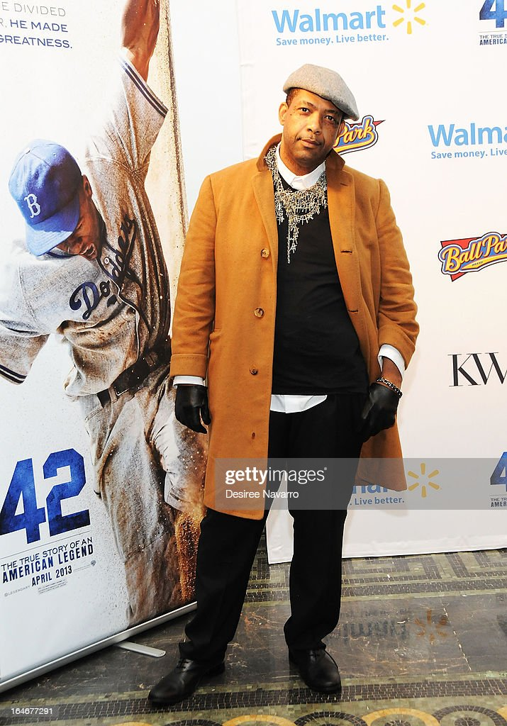 Stylist Kithe Brewster attends the '42' event honoring Jackie Robinson at the Brooklyn Academy of Music on March 25, 2013 in New York City.