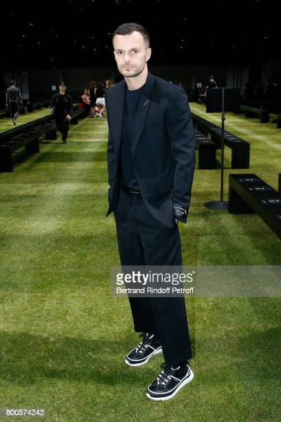 Stylist Kris Van Assche poses prior the Dior Homme Menswear Spring/Summer 2018 show as part of Paris Fashion Week on June 24 2017 in Paris France