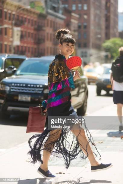 Stylist Leaf Greener after DKNY on Day 4 of New York Fashion Week Spring/Summer 2015 on September 7 2014 in New York City