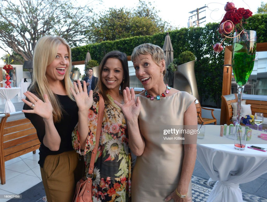 Stylist Lindsay Albanese, founder of Simply Stylist Sarah Boyd and TV personality Barbara Corcoran attend the Entertainment Tonight And Crystal Light Pre-Emmy Party at SLS Hotel on September 17, 2013 in Beverly Hills, California.