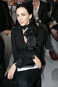 Stylist L'Wren Scott attends the Yves Saint Laurent Spring/Summer 2008 fashion show at Grand Palais October 4 2007 in Paris France