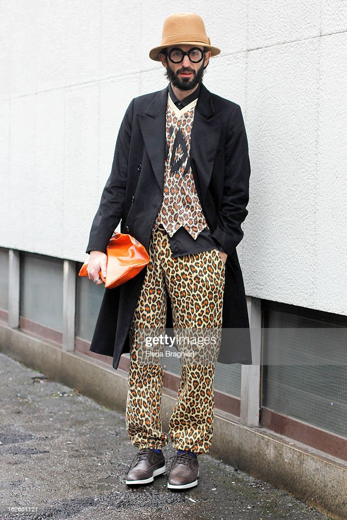 Stylist Manos Samartzis attends the Milan Fashion Week Womenswear Fall/Winter 2013/14 on February 25, 2013 in Milan, Italy.